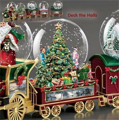THOMAS KINKADE Deck The Halls Wonderland Express Snow Globe TRAIN #2 NEW