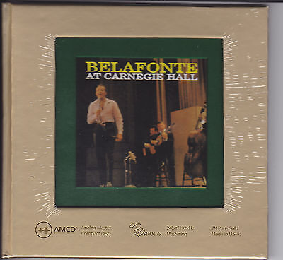 """""""Harry Belafonte At Carnegie Hall"""" Limited Numbered Audiophile AMCD Gold CD New"""