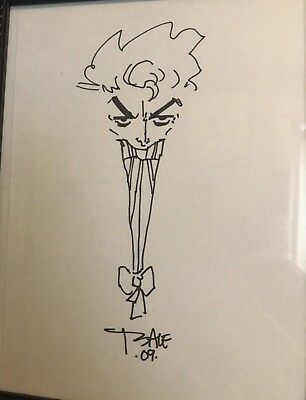 Tim Sale Original Joker Sketch Long Halloween Batman Dc Comics Justice League