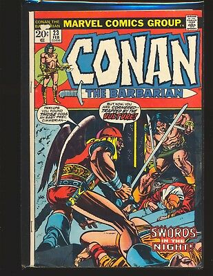 Conan The Barbarian # 23 1st brief Red Sonja VG Cond. centerfold staple detached