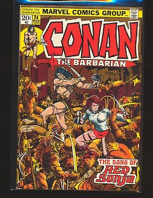 Conan The Barbarian # 24 - 1st full Red Sonja Smith cover & art VG+ Cond.