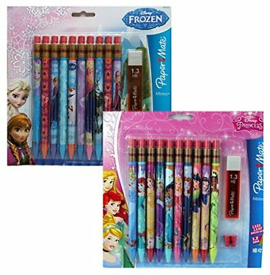 Papermate Disney Princess and Frozen Mechanical Pencils 10 Count (Set of 2) New