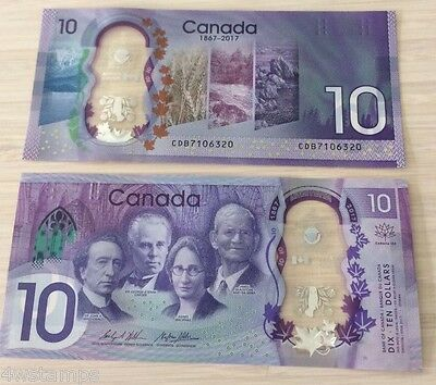 Canada 150th new  2017 Commemorative Dollar Polymer UNC Banknote - in Stock