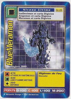 DIGIMON DIGI-BATTLE CARD - FRENCH SERIES 3 - Bo-128 BLUEMERAMON Ultimate Level