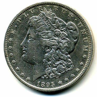 RARE 1895 O AU Morgan Silver Dollar About Uncirculated Coin LOW MINTAGE U.S#3592