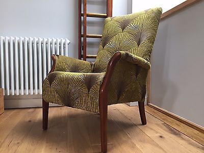 Pair of Vintage Parker Knoll Occasional Cocktail Armchairs Deco Inspired