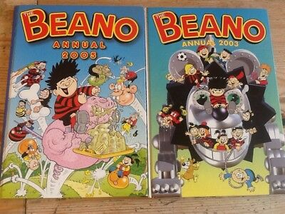2 x Beano Annuals - 2003 and 2005