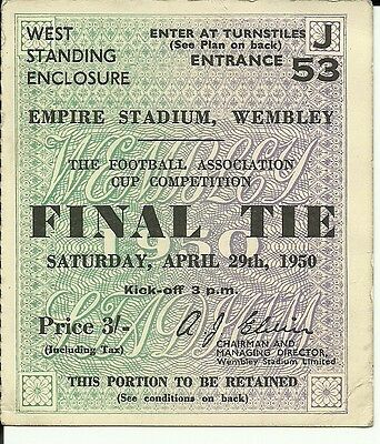 Ticket FA Cup Final 1950 Arsenal v Liverpool