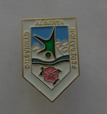 Alberta Gymnastic Federation Enamel Lapel Badge-- Canada