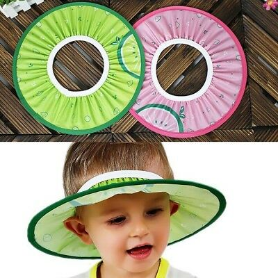 Baby Kid Child Shampoo Cap Bath Shower Hat Wash Hair Waterproof Shield Elastic