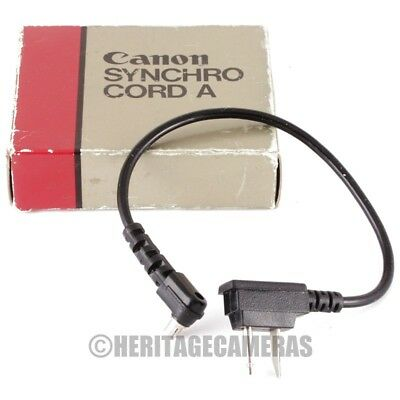 Canon Synchro Cord A for Speedlite 155A 177A 199A 299T Flash Units (PC Cable)
