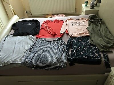 Bundle Of Ladies Tops Jumpers Topshop New Look H&M River Island Size 10