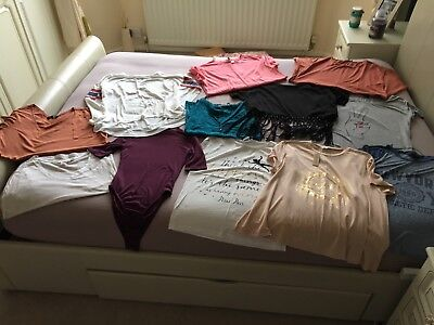 Bundle Of Ladies Tops River Island H&M New Look Size 10