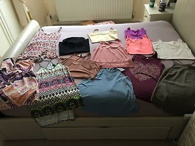 Bundle Of Ladies Vests River Island New Look H&M Size 10