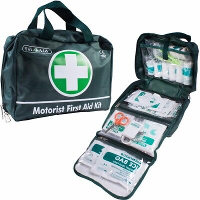 70Pc Motorist First Aid Kit|Large Compact Bag 1st Home Work Travel 2019 Expiry