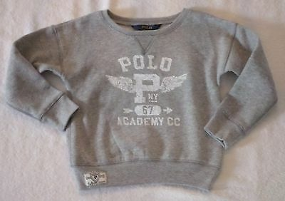 Boys Size 4/4T 4 4T Polo Ralph Lauren Cotton-Blend Sweatshirt Gray Nwt