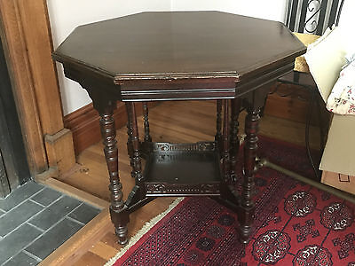 Antique Victorian Mahogany Octagonal Occasional Table