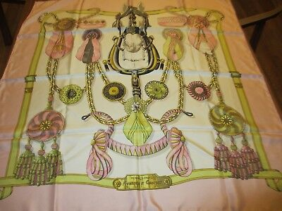 "1St Edition Auth 1968 Hermes""frontaux Et Cocardes"" Caty Latham Silk Scarf-No Res"