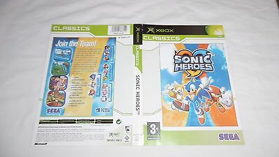 SONIC HEROES : CLASSIC VERSION : ORIGINAL COVER (ARTWORK/SLEEVE) ONLY, xbox