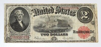 Series 1917 Jefferson Oversized Large $2.00 Dollar Note Currency No. #2