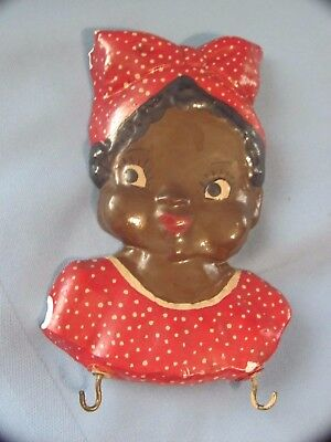 Vtg Chalkware Plaster AUNT JAMIMA MAMMY Black Americana Wall Hot Pat Holder