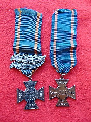 Methodist Junior Mission For All Medals Ribbon With Year Bars 1969 1973  JMA JMC