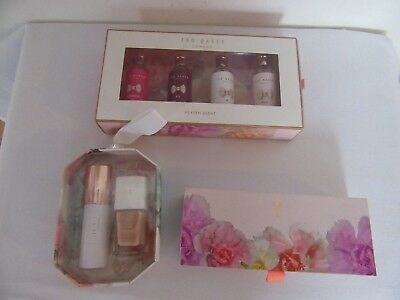 Ted Baker X 3 Gift Sets Heaven Scents, Lip Balm, Sparkle And Shine    All New