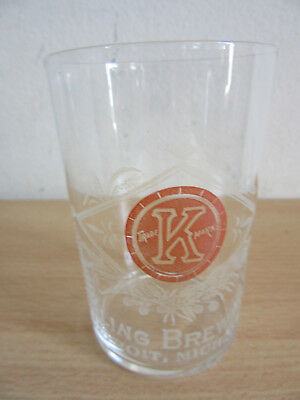 Antique Pre Prohibition PH. Kling Brewing Company, Detriot MI etched beer glass