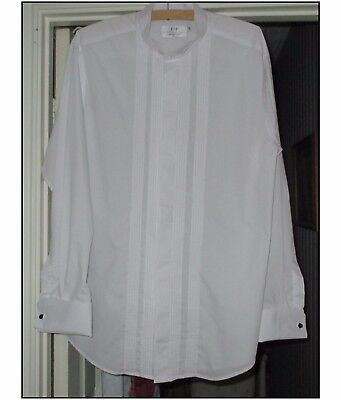 MENS WHITE WING COLLAR EVENING SHIRT BY F&F 16in COLLAR.