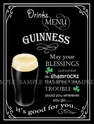 Guinness   Retro Pub,bar,club, Man Shed,home Bar,metal Sign-Plaque Lovely  Gift