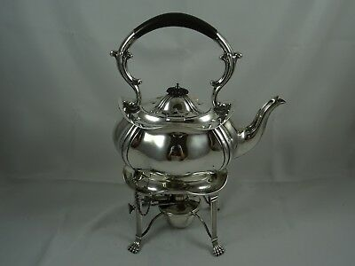 SMART EDWARDIAN  solid silver KETTLE ON STAND, 1911, 912gm