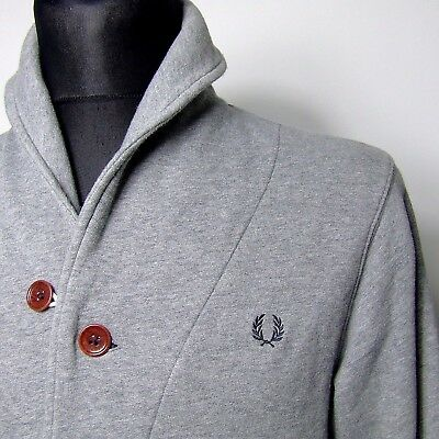 "Vtg FRED PERRY tracksuit top INDIE S SMALL 40""chest mod jacket DUFFLE"
