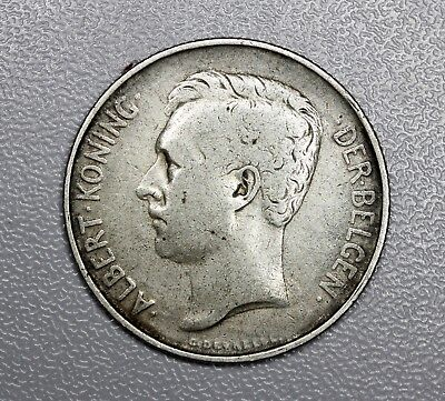 1911 Belgium 2 Francs (Franks) in French Silver Coin  (HD103)