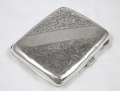 Antique Sterling Silver Cigarette Case by W H Haseler of Birmingham dated 1924