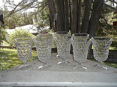 8 Fostoria AMERICAN Clear Low Water Glasses Goblets 8 oz