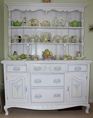 Beautifully Painted Dresser, Lots Of Display And Storage Space