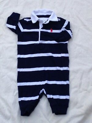 RALPH LAUREN BABY BOY ROMPER SUIT PLAYSUIT ALL IN ONE Age 3 Months