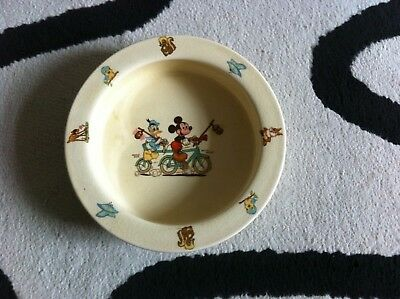 Beswick Walt Disney Mickey Mouse & Donald Duck Baby Bowl Nursery Child Wares