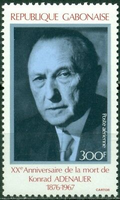 Gabon Scott #C288 MNH Konrad Adenauer West German Chancellor CV$4+