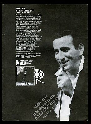 1964 Tony Bennett photo Columbia Records vintage print ad