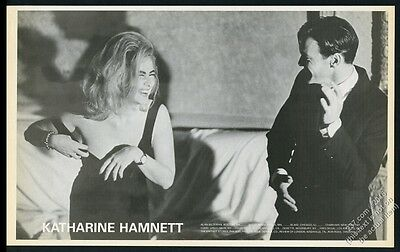 1986 Katharine Hamnett black dress fashion photo BIG vintage print ad