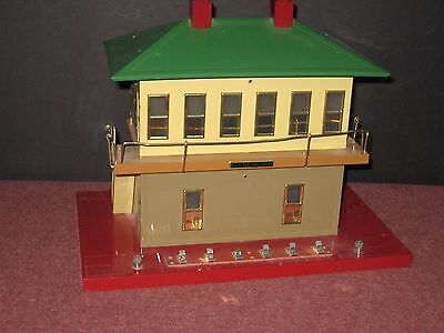 MTH: Large Switch Tower (AF) #108 Prewar. Near mint, display only. C-8/ob bd