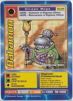 TOEI FRENCH DIGIMON CCG CARD - EXTENSION MEGA PACK - Mp-109 BABAMON Out of Print