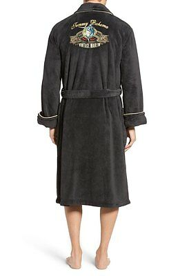 Tommy Bahama Men's Wrap Robe Plush S/M (38-40) Embroidered Charcoal  $95