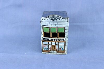 Vintage Tin Litho Candy Container Cover Drug Store  #2