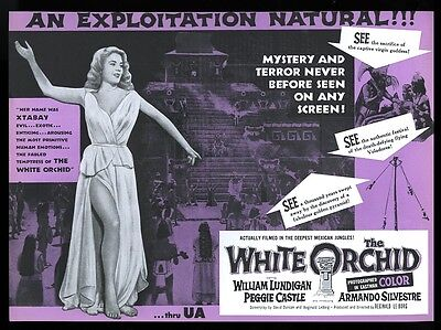 1954 The White Orchid Peggy Castle movie release vintage trade ad