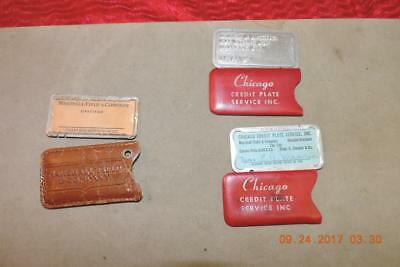 Marshall Field & Co Charge Plate Addressograph Credit Plate W/ cover credit card