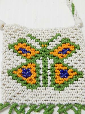 Vintage Mohave / Chemihuevi Indian Butterfly Figural Net Beaded Pouch - Nr