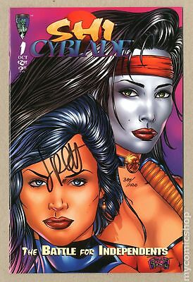 Shi Cyblade The Battle for Independents (1995) #1A-DFSIGNEDJP VF/NM 9.0