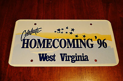 1996 West Virginia Homecoming Car Tag